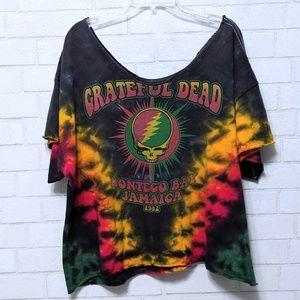 Grateful Dead Montego Bay Tie Dye Off Shoulder Top